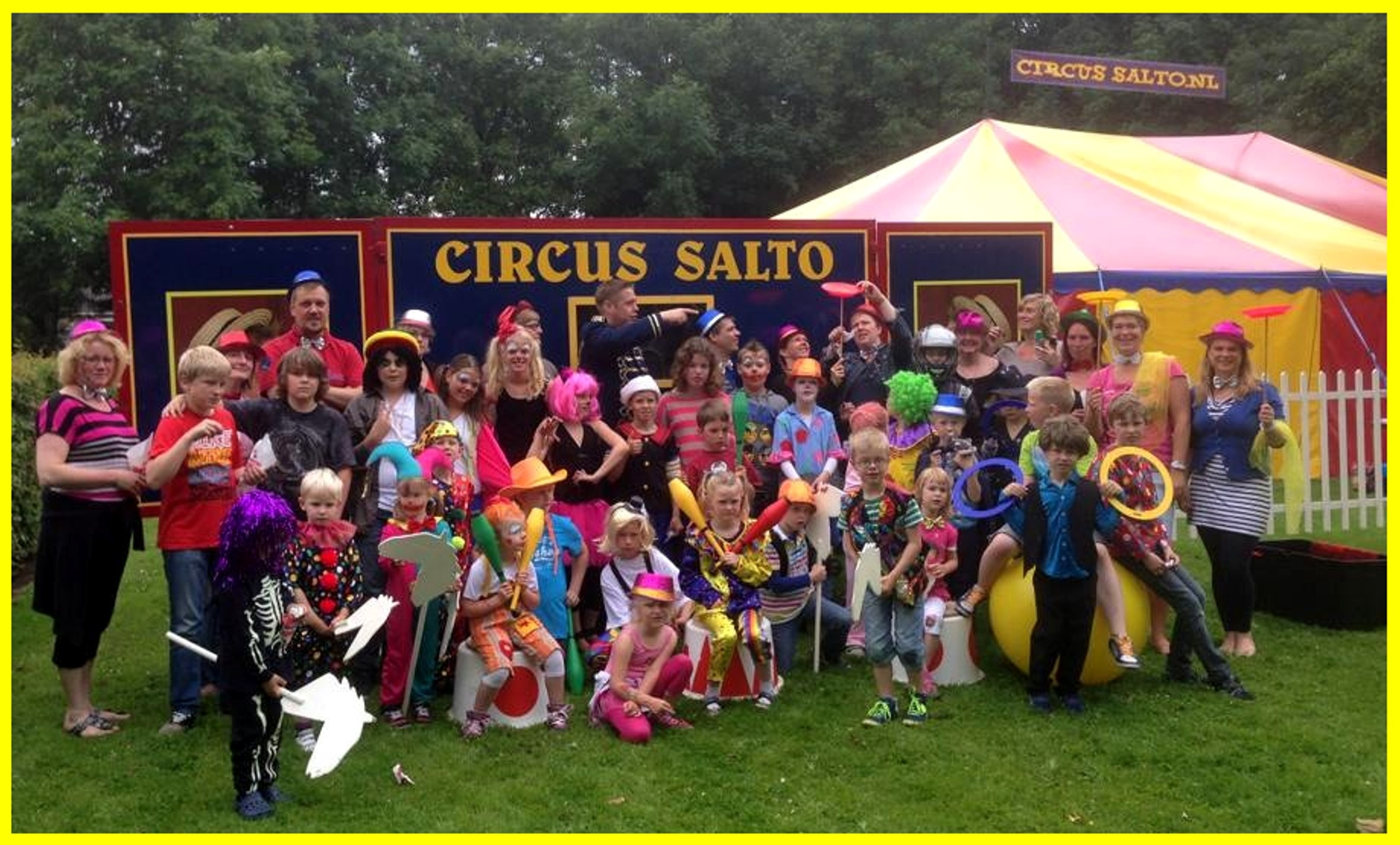 Circusproject op school door Circus Salto